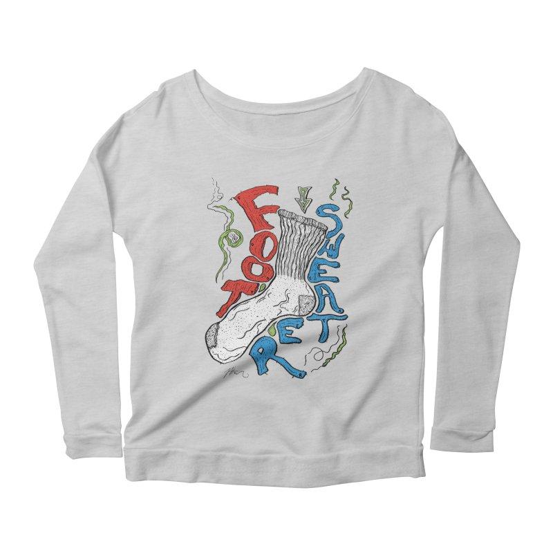 Foot Sweater Women's Scoop Neck Longsleeve T-Shirt by Rorockll's Artist Shop
