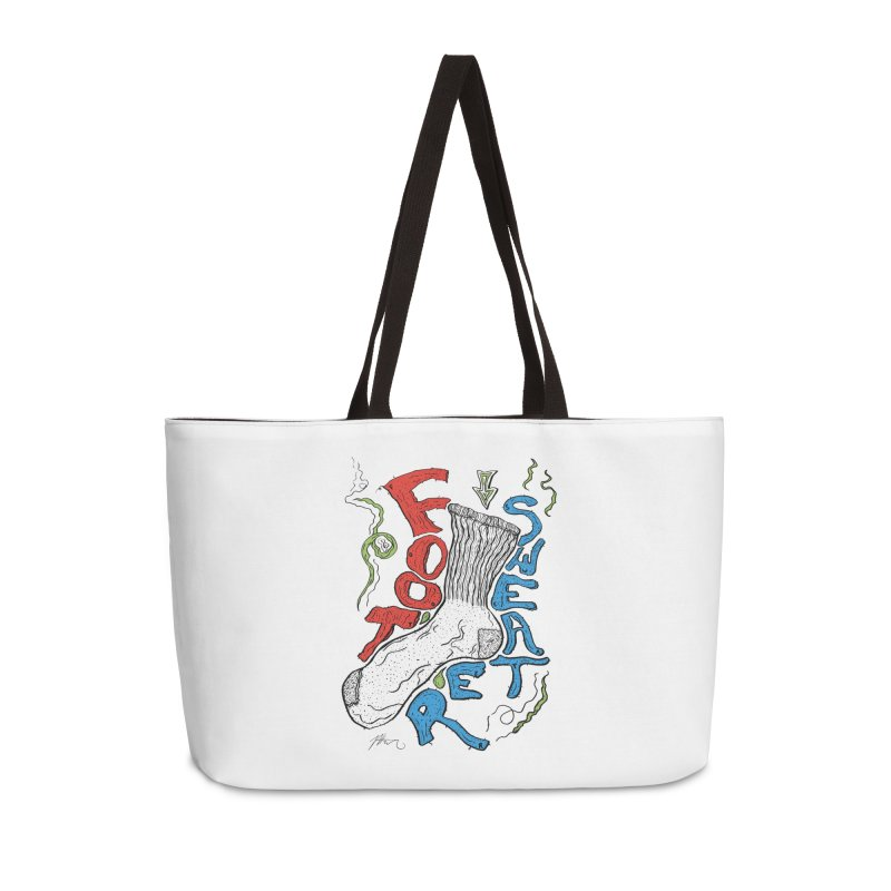 Foot Sweater Accessories Weekender Bag Bag by Rorockll's Artist Shop