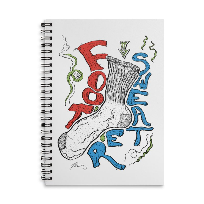 Foot Sweater Accessories Lined Spiral Notebook by Rorockll's Artist Shop