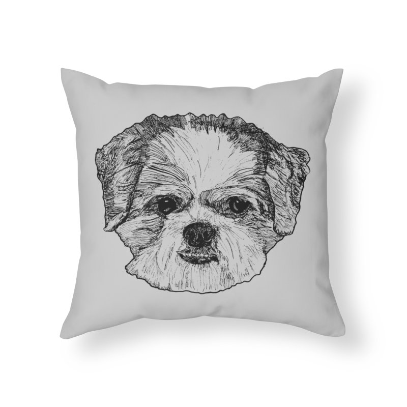 Biggles Home Throw Pillow by Rorockll's Artist Shop