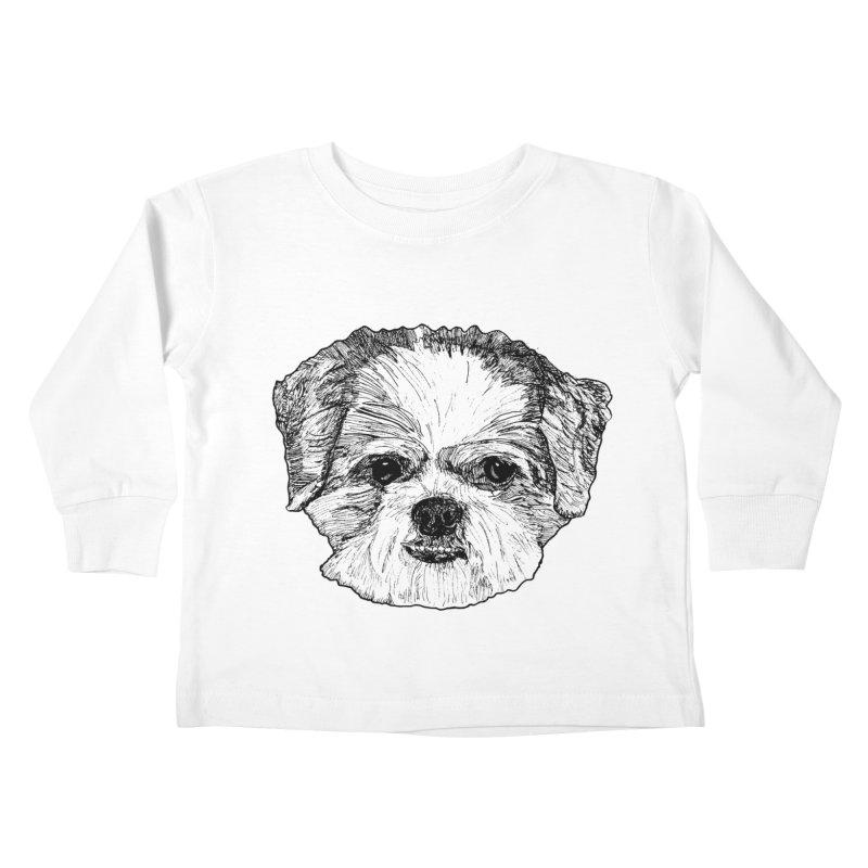 Biggles Kids Toddler Longsleeve T-Shirt by Rorockll's Artist Shop