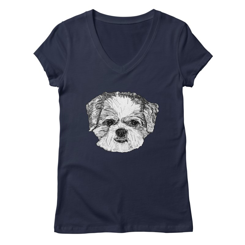 Biggles Women's Regular V-Neck by Rorockll's Artist Shop