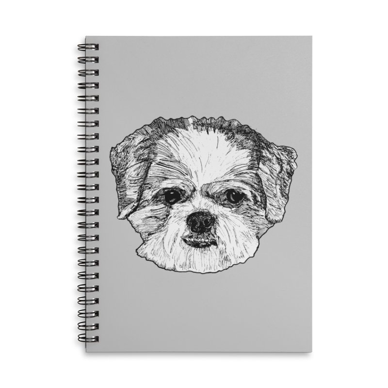 Biggles Accessories Lined Spiral Notebook by Rorockll's Artist Shop