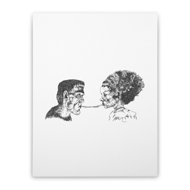 Lady and The Champ (Color) Home Stretched Canvas by Rorockll's Artist Shop