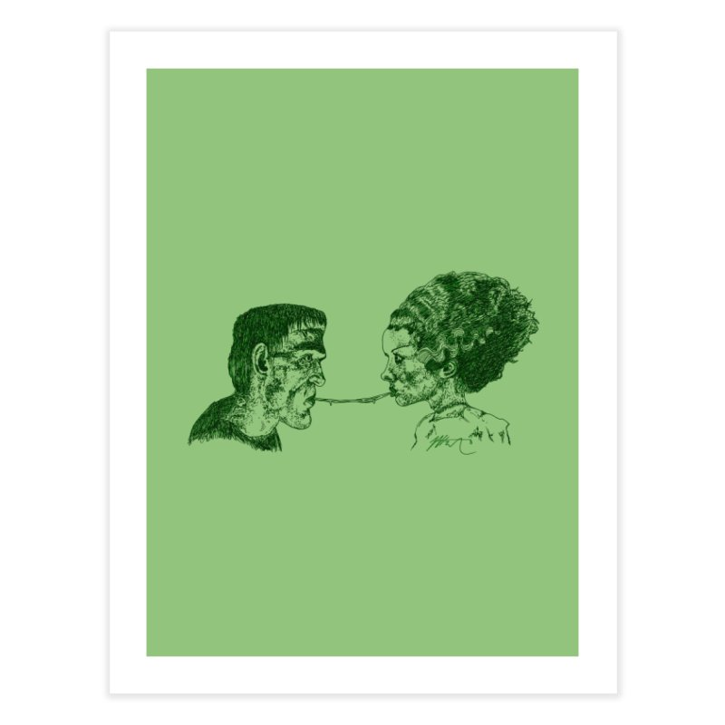 Lady and the Champ (B&W) Home Fine Art Print by Rorockll's Artist Shop