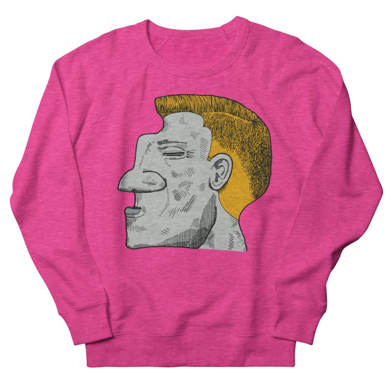 Profile Women's French Terry Sweatshirt by Rorockll's Artist Shop