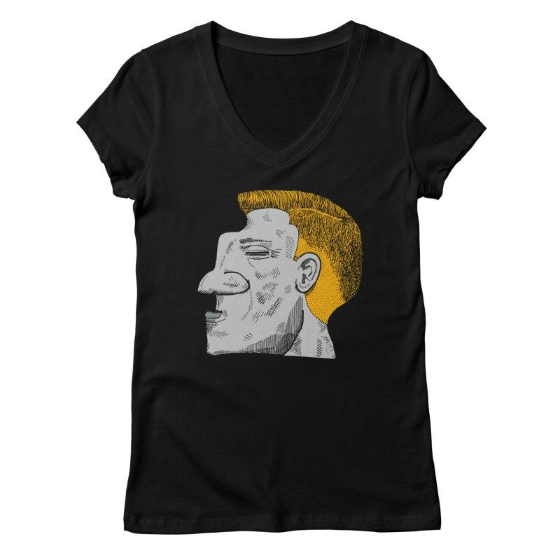 Profile Women's Regular V-Neck by Rorockll's Artist Shop