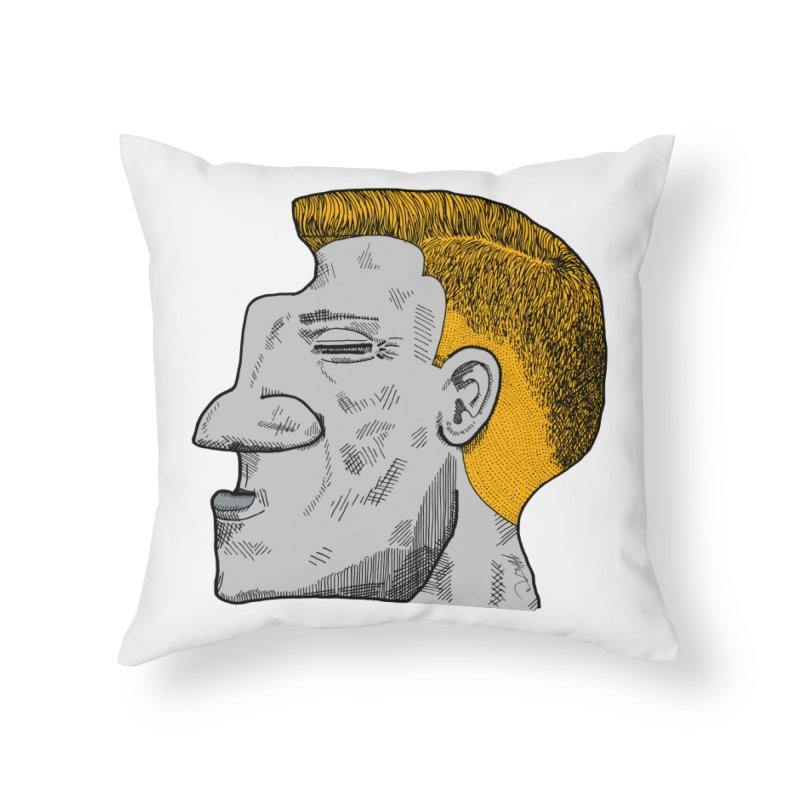 Profile Home Throw Pillow by Rorockll's Artist Shop