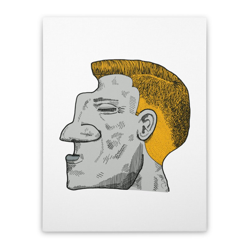 Profile Home Stretched Canvas by Rorockll's Artist Shop