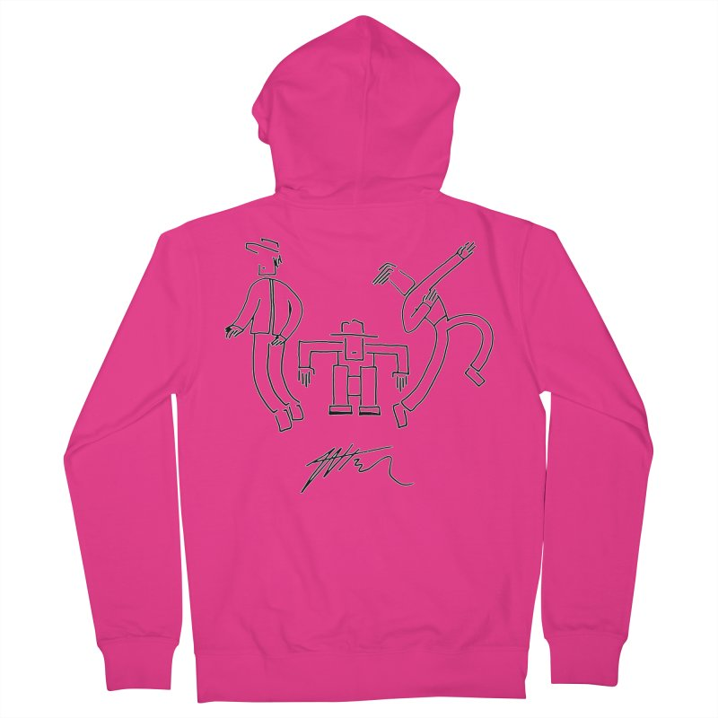 Flowie Trio Men's French Terry Zip-Up Hoody by Rorockll's Artist Shop