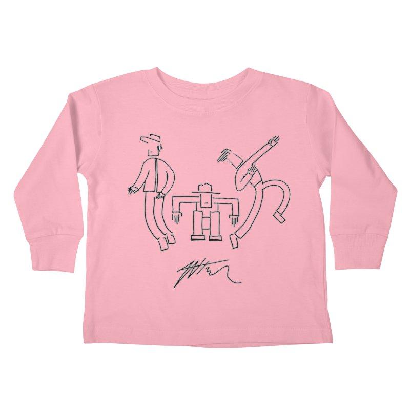 Flowie Trio Kids Toddler Longsleeve T-Shirt by Rorockll's Artist Shop