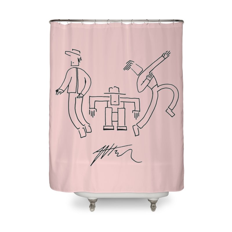 Flowie Trio Home Shower Curtain by Rorockll's Artist Shop