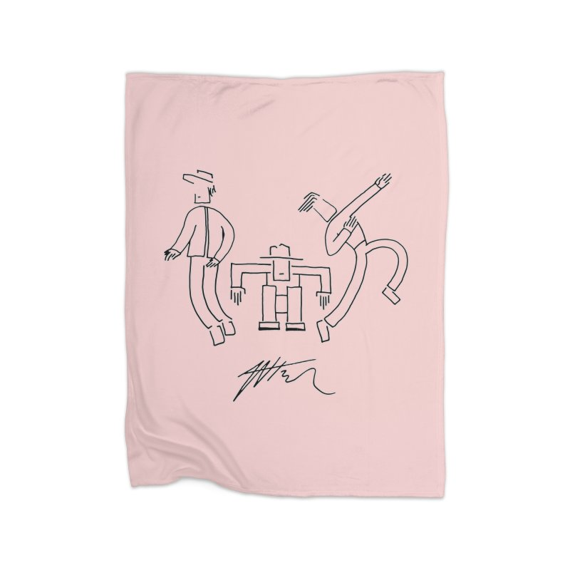 Flowie Trio Home Fleece Blanket Blanket by Rorockll's Artist Shop