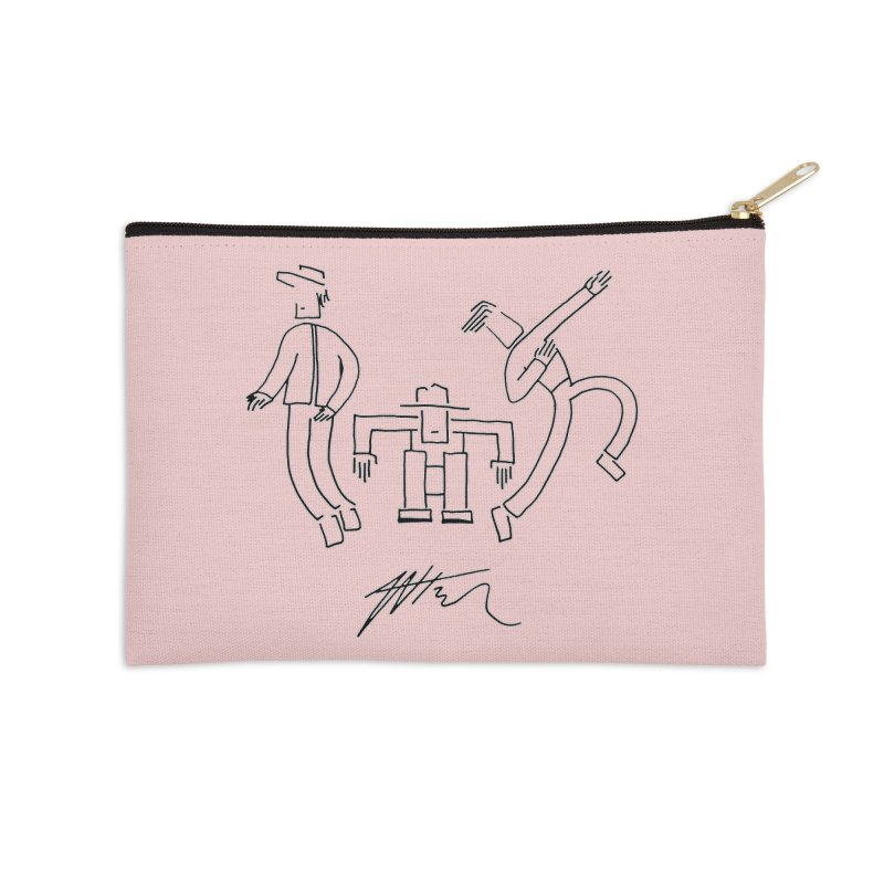 Flowie Trio Accessories Zip Pouch by Rorockll's Artist Shop