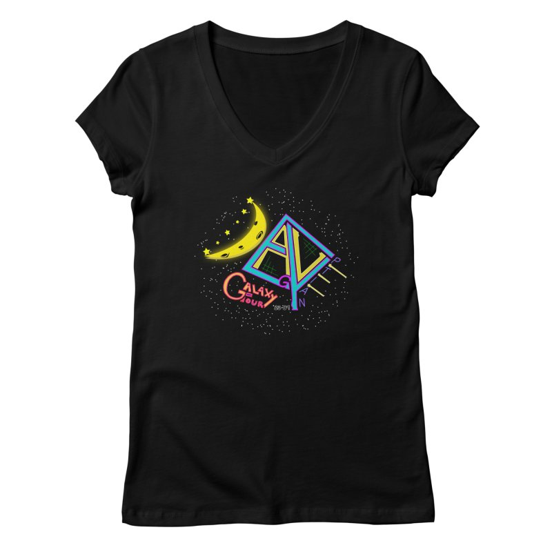 Egyptian Dave Galaxy Tour Women's Regular V-Neck by Rorockll's Artist Shop