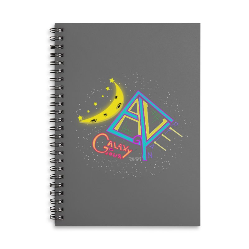 Egyptian Dave Galaxy Tour Accessories Lined Spiral Notebook by Rorockll's Artist Shop