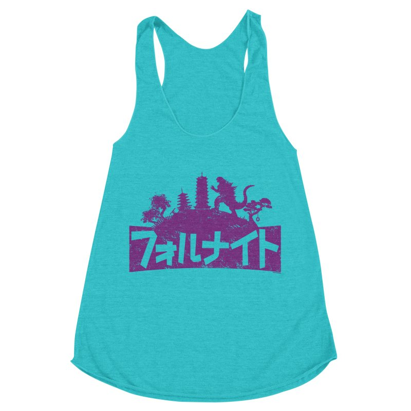 Japan Fortnite  [Rx] Women's Racerback Triblend Tank by Roufxis Store