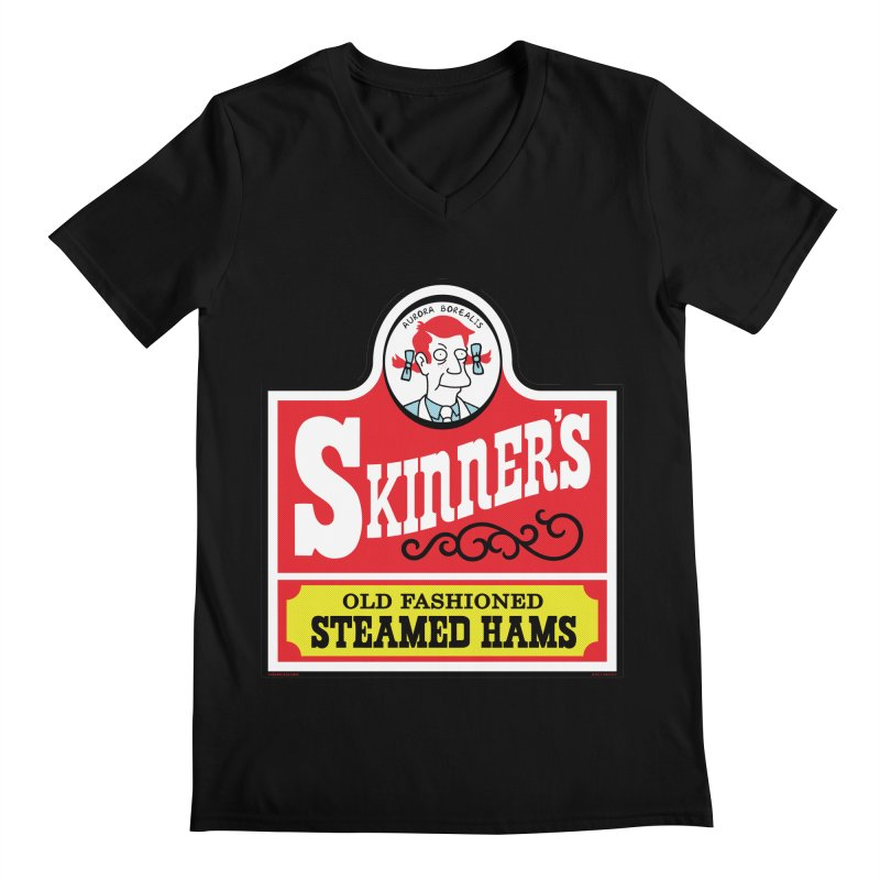 Skinners Old Fashioned Steamed Hams [Rx-TL] Men's Regular V-Neck by Roufxis Store