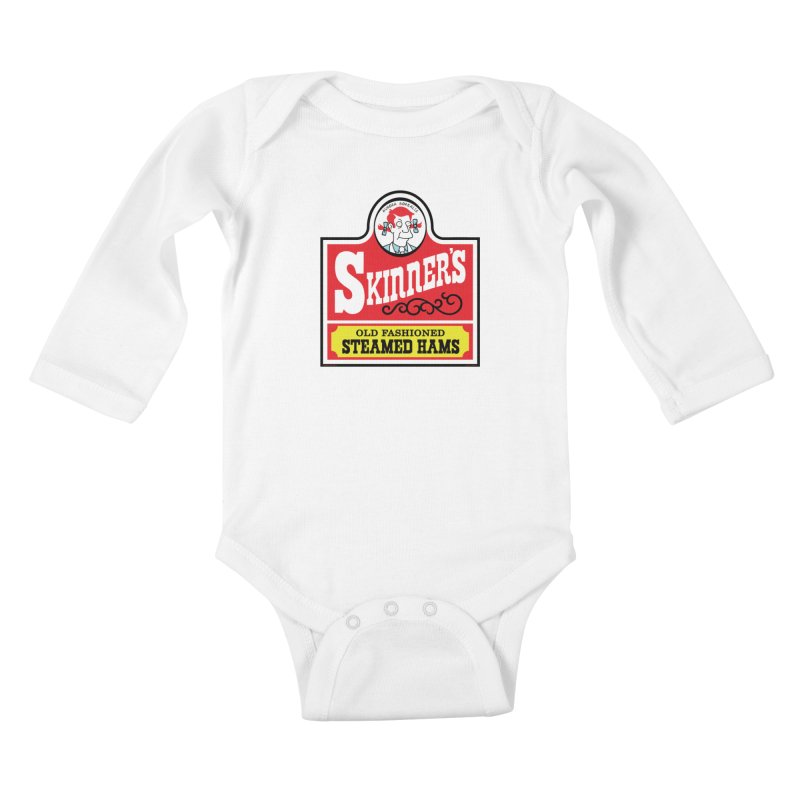 Skinners Old Fashioned Steamed Hams [Rx-TL] Kids Baby Longsleeve Bodysuit by Roufxis Store