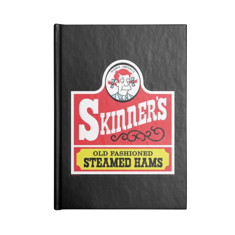 Skinners Old Fashioned Steamed Hams [Rx-TL] Accessories Lined Journal Notebook by Roufxis Store