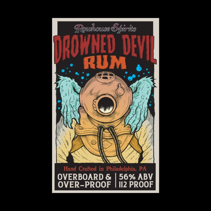 Drowned Devil Rum Men's T-Shirt by Rowhouse Spirits