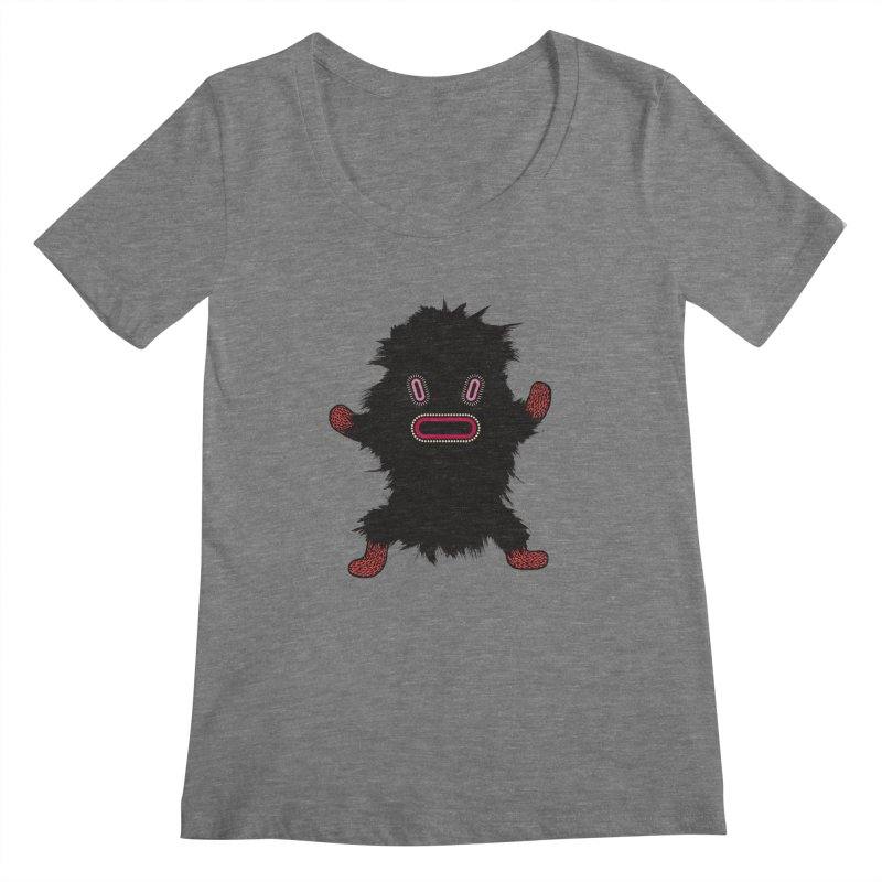 Monster of the day (October 9) [Year 1] Women's Scoopneck by Daily Monster Shop by Royal Glamsters