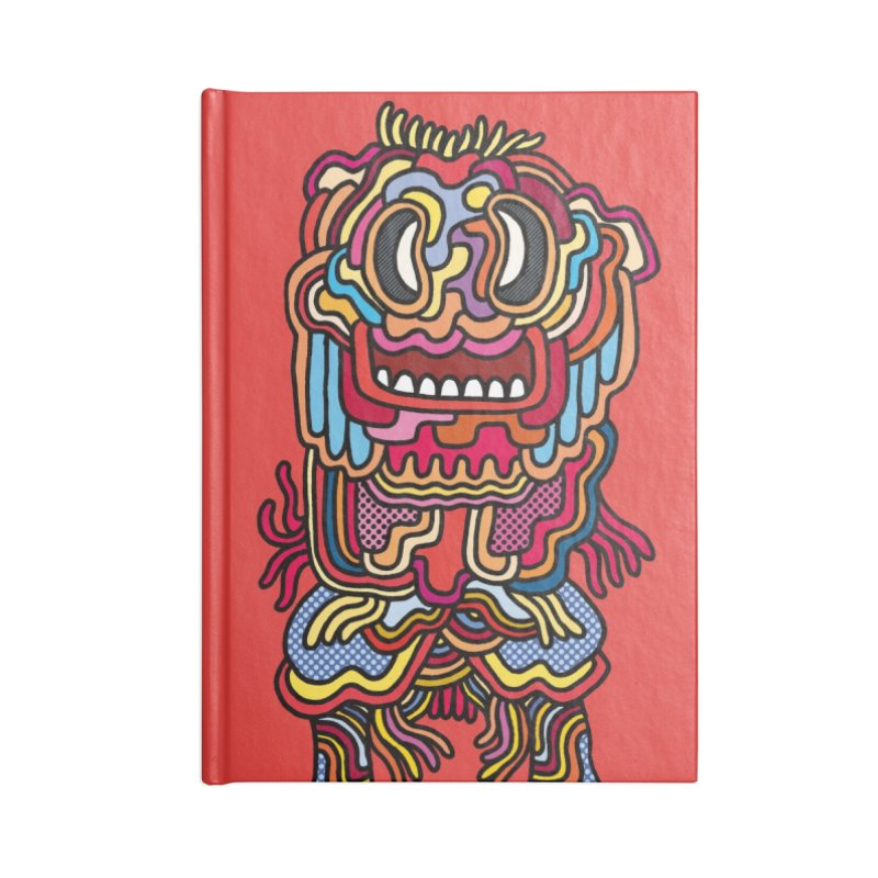 Olmeca Monster of the day (May 28) [Year 1] Accessories Lined Journal Notebook by Daily Monster Shop by Royal Glamsters