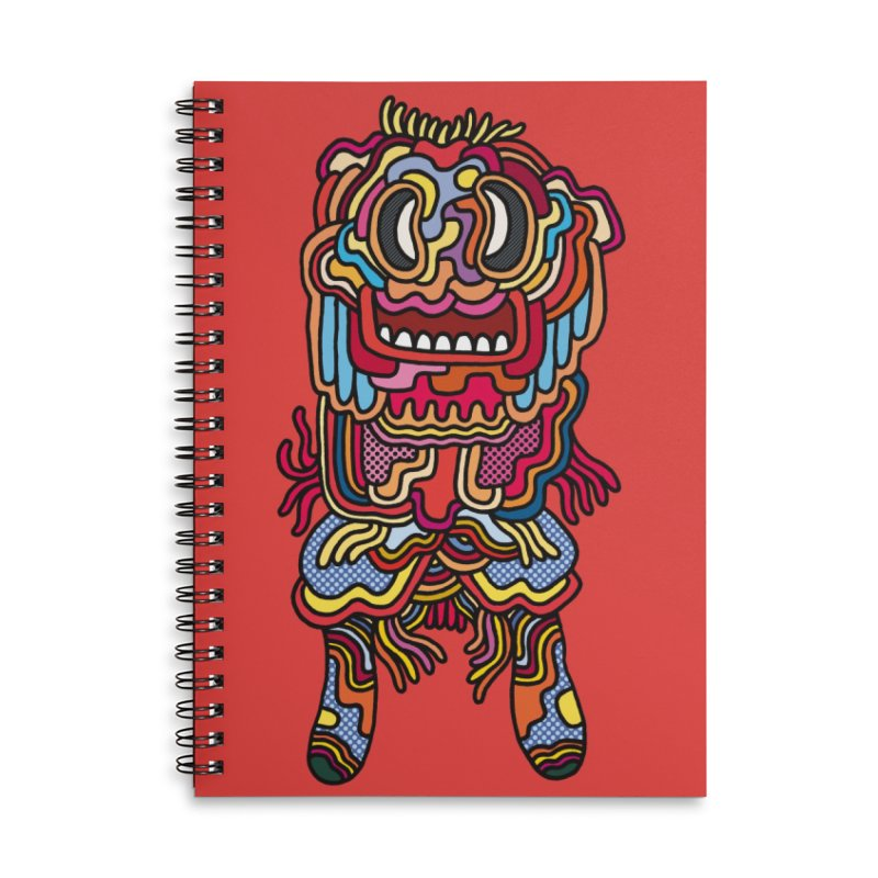 Olmeca Monster of the day (May 28) [Year 1] in Lined Spiral Notebook by Daily Monster Shop by Royal Glamsters