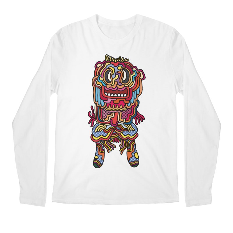 Olmeca Monster of the day (May 28) [Year 1] Men's Regular Longsleeve T-Shirt by Daily Monster Shop by Royal Glamsters