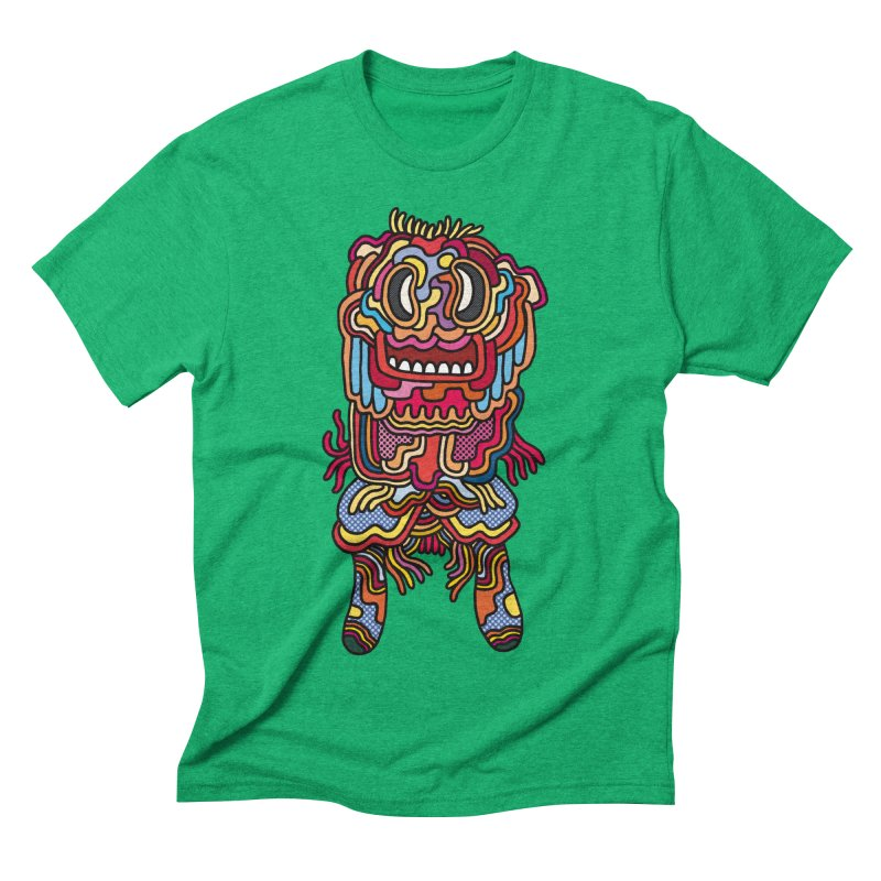 Olmeca Monster of the day (May 28) [Year 1] Men's Triblend T-Shirt by Daily Monster Shop by Royal Glamsters