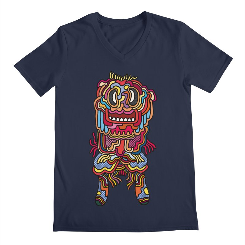Olmeca Monster of the day (May 28) [Year 1] Men's Regular V-Neck by Daily Monster Shop by Royal Glamsters