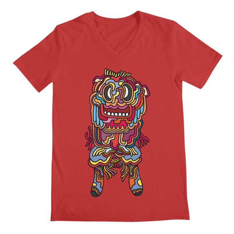 Olmeca Monster of the day (May 28) [Year 1] Men's V-Neck by Daily Monster Shop by Royal Glamsters