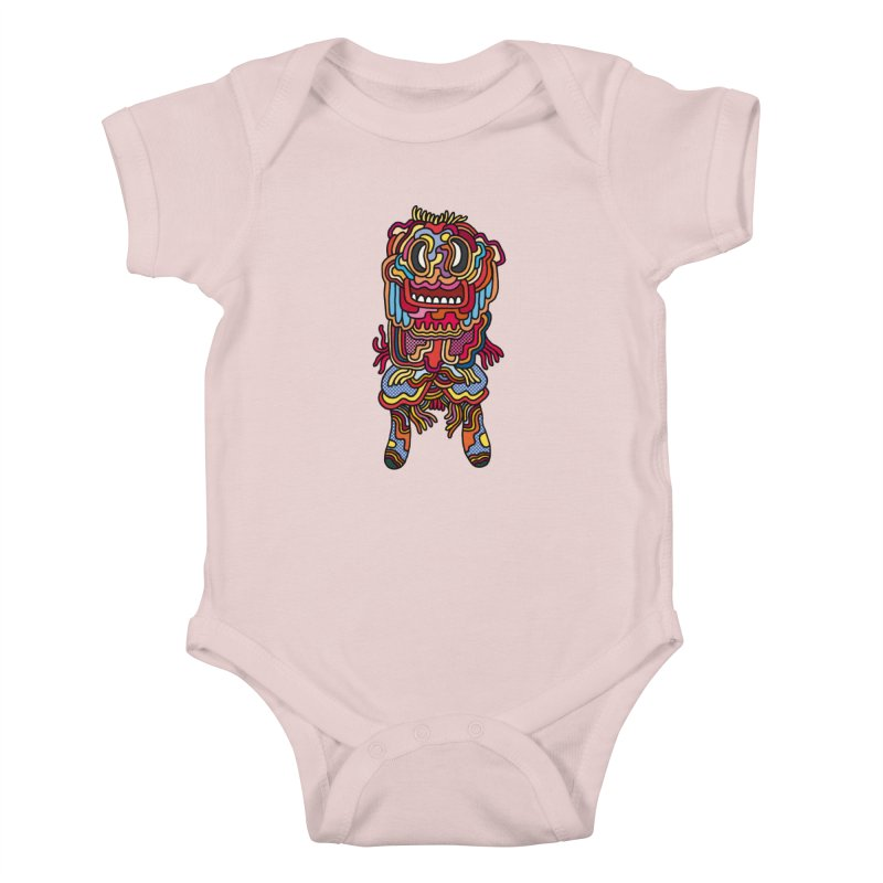 Olmeca Monster of the day (May 28) [Year 1] Kids Baby Bodysuit by Daily Monster Shop by Royal Glamsters