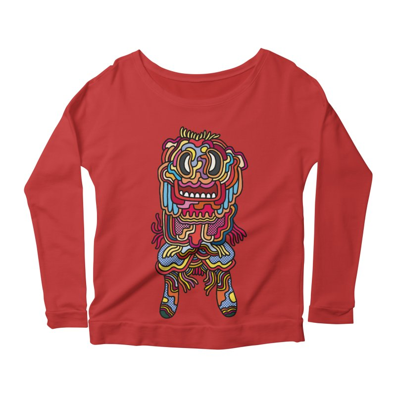 Olmeca Monster of the day (May 28) [Year 1] Women's Scoop Neck Longsleeve T-Shirt by Daily Monster Shop by Royal Glamsters