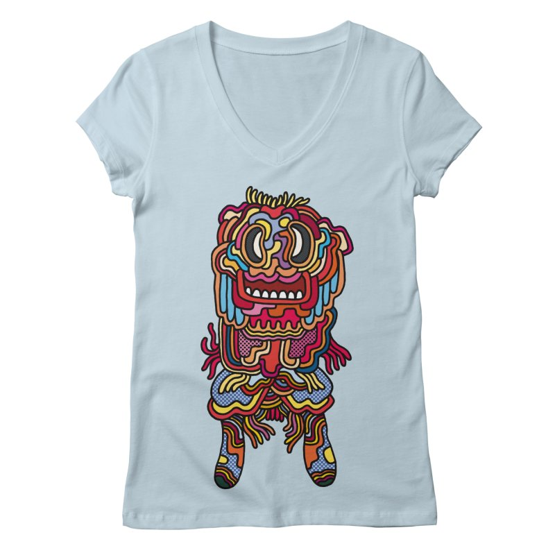 Olmeca Monster of the day (May 28) [Year 1] Women's V-Neck by Daily Monster Shop by Royal Glamsters
