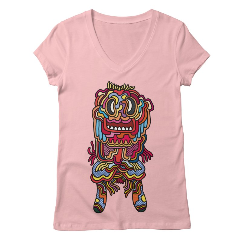Olmeca Monster of the day (May 28) [Year 1] Women's Regular V-Neck by Daily Monster Shop by Royal Glamsters