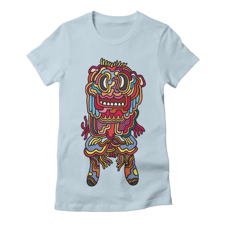 Olmeca Monster of the day (May 28) [Year 1] Women's Fitted T-Shirt by Daily Monster Shop by Royal Glamsters