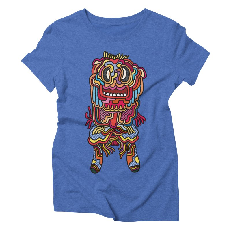 Olmeca Monster of the day (May 28) [Year 1] Women's Triblend T-Shirt by Daily Monster Shop by Royal Glamsters