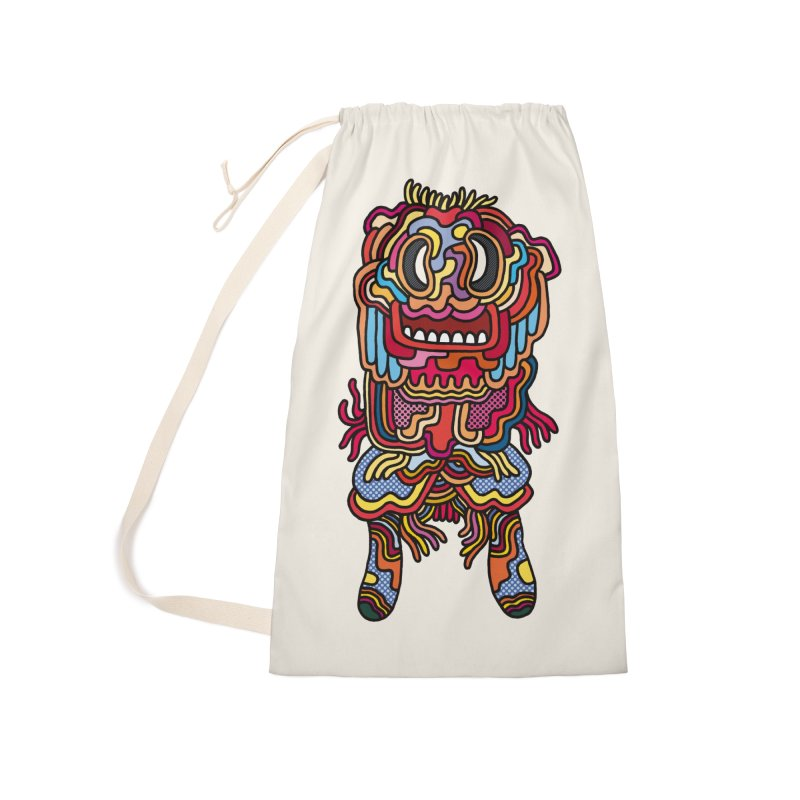 Olmeca Monster of the day (May 28) [Year 1] Accessories Laundry Bag Bag by Daily Monster Shop by Royal Glamsters
