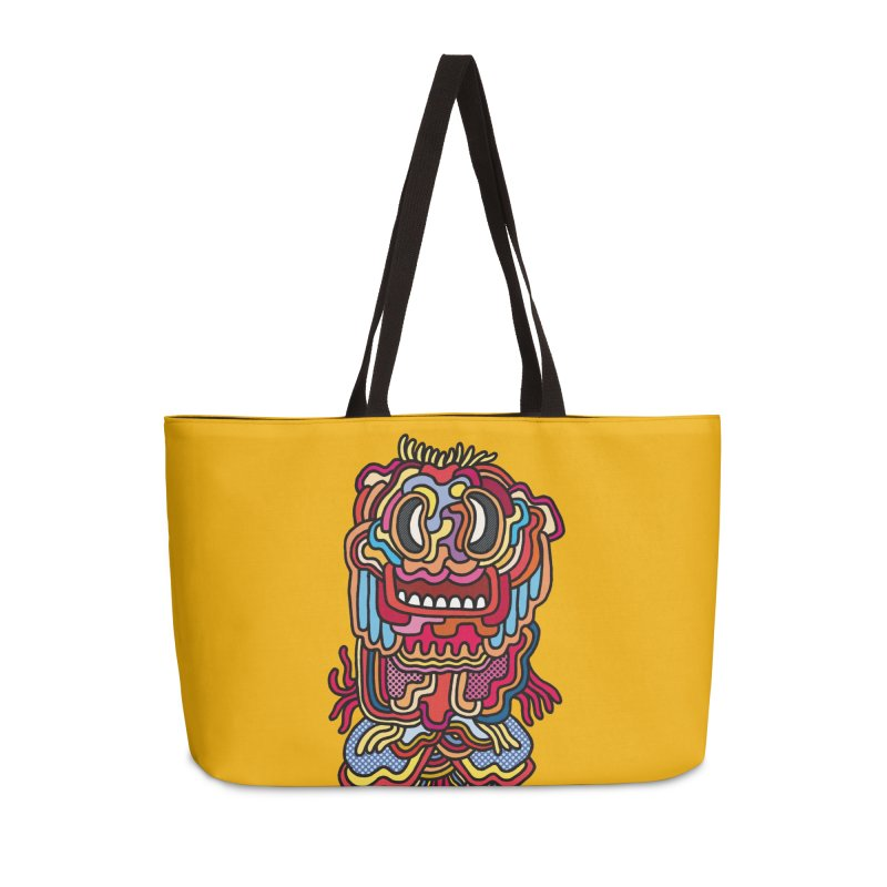 Olmeca Monster of the day (May 28) [Year 1] Accessories Weekender Bag Bag by Daily Monster Shop by Royal Glamsters