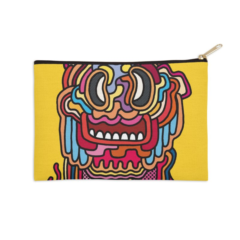 Olmeca Monster of the day (May 28) [Year 1] Accessories Zip Pouch by Daily Monster Shop by Royal Glamsters