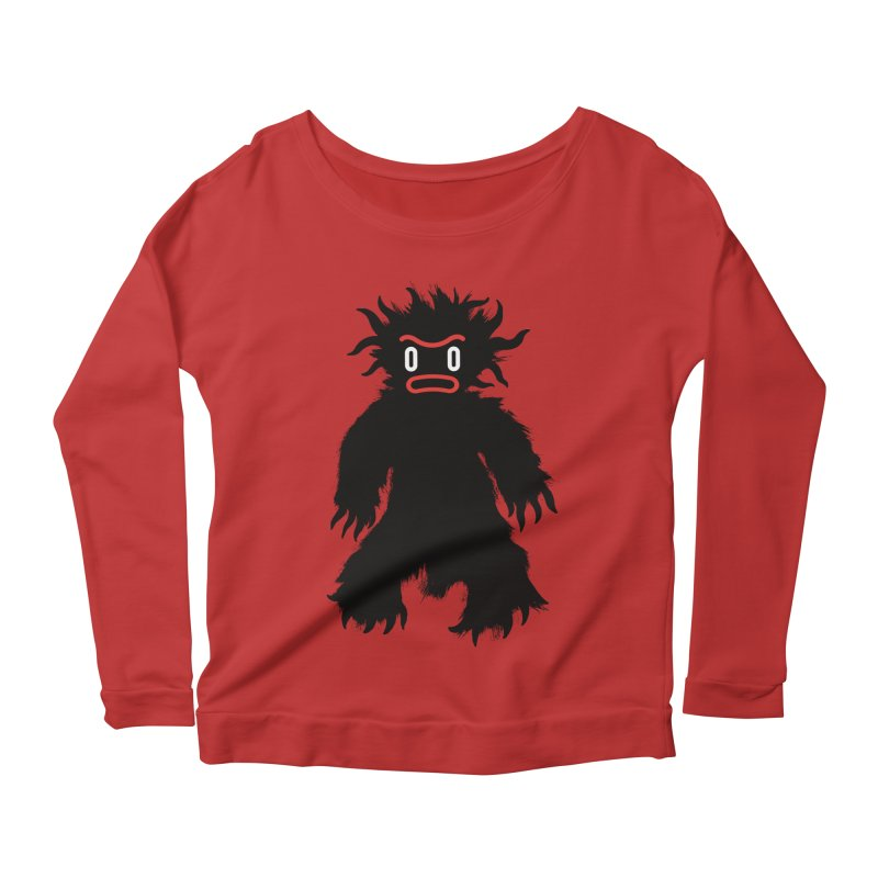 Monster of the day (February 15) [Year 1] Women's Scoop Neck Longsleeve T-Shirt by Daily Monster Shop by Royal Glamsters