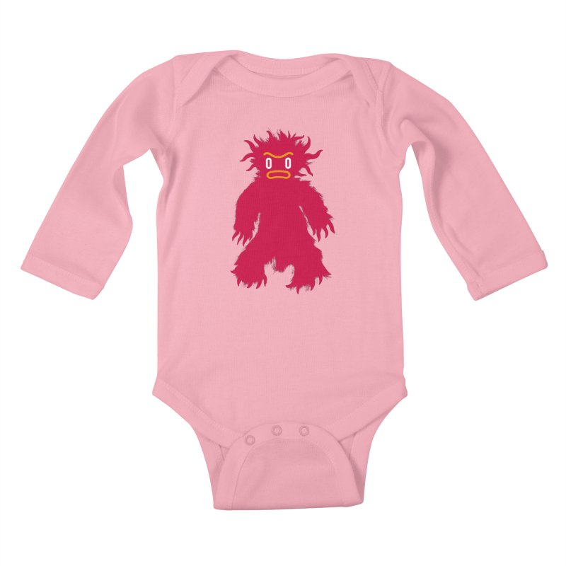 Monster of the day (February 15) [Year 1] (For kids only) Kids Baby Longsleeve Bodysuit by Daily Monster Shop by Royal Glamsters