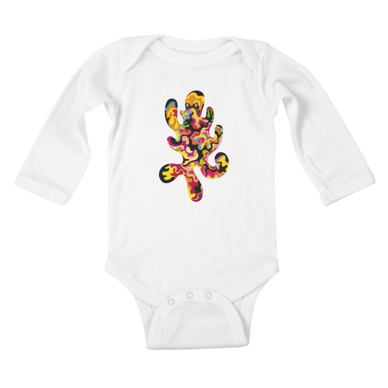 Monster of the day (September 18) [Year 1] Kids Baby Longsleeve Bodysuit by Daily Monster Shop by Royal Glamsters