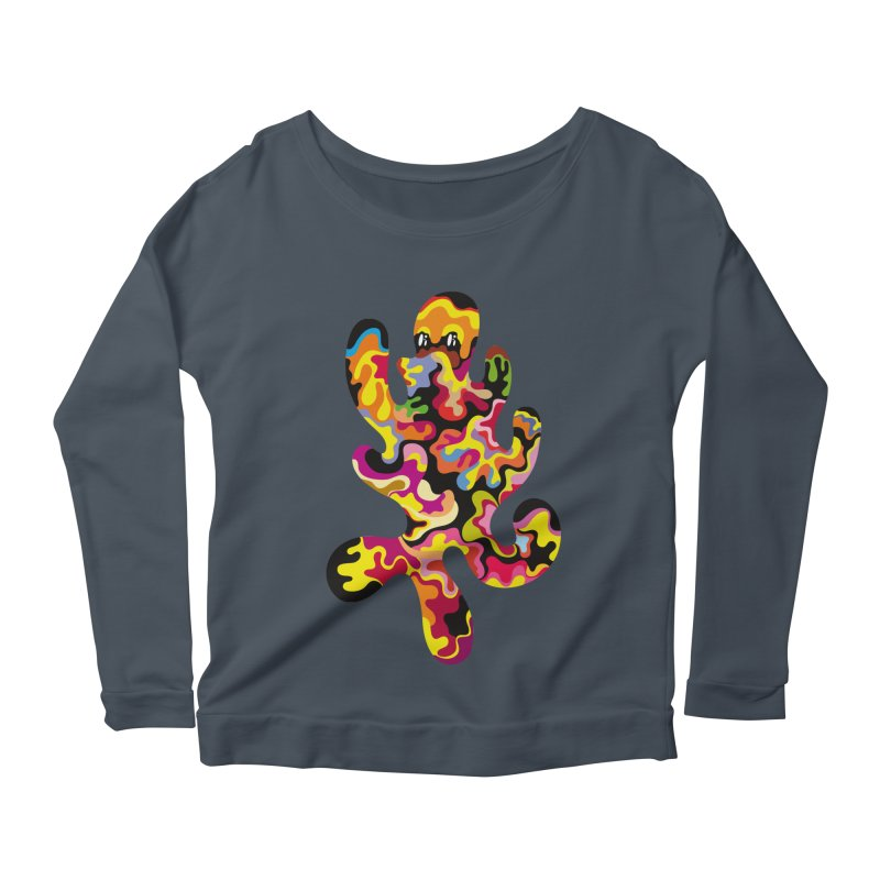 Monster of the day (September 18) [Year 1] Women's Scoop Neck Longsleeve T-Shirt by Daily Monster Shop by Royal Glamsters