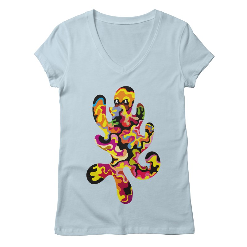 Monster of the day (September 18) [Year 1] Women's V-Neck by Daily Monster Shop by Royal Glamsters
