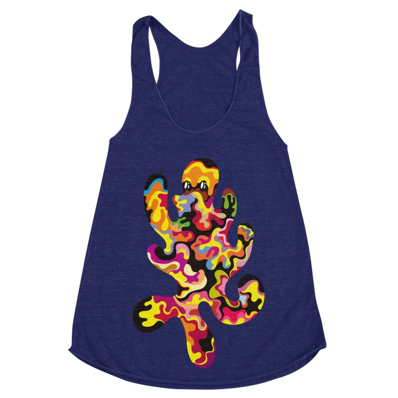 Monster of the day (September 18) [Year 1] Women's Racerback Triblend Tank by Daily Monster Shop by Royal Glamsters