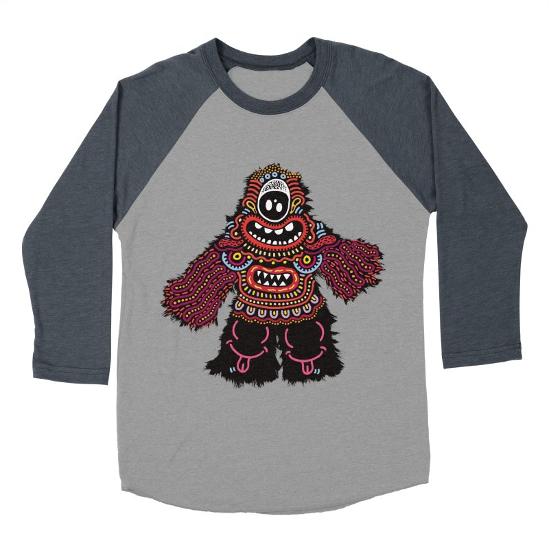 (Stupid) monster of the day (June 24) [Year 1] Men's Baseball Triblend Longsleeve T-Shirt by Daily Monster Shop by Royal Glamsters
