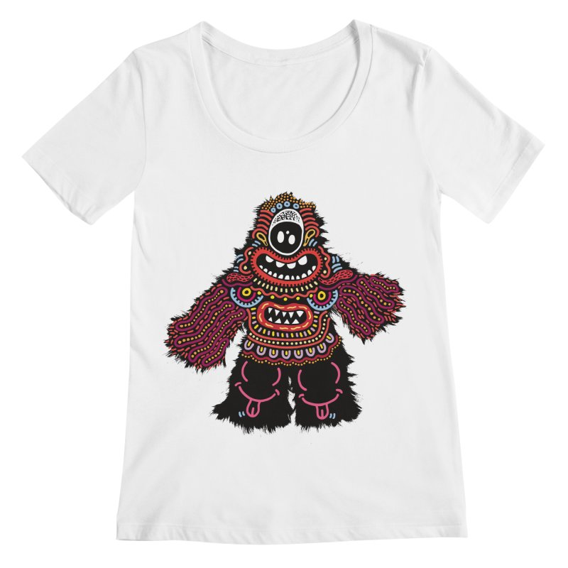 (Stupid) monster of the day (June 24) [Year 1] Women's Regular Scoop Neck by Daily Monster Shop by Royal Glamsters