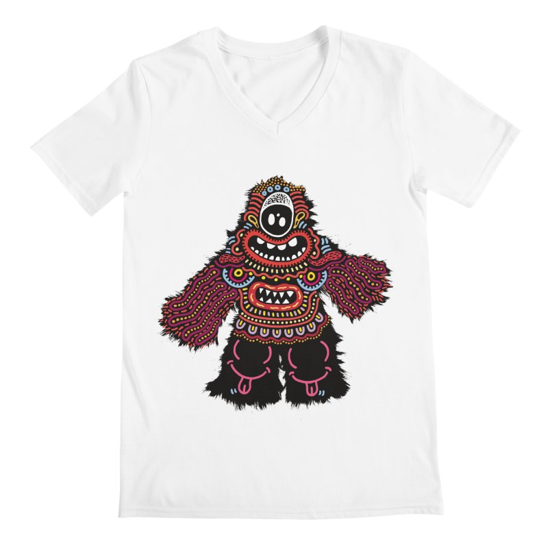 (Stupid) monster of the day (June 24) [Year 1] Men's Regular V-Neck by Daily Monster Shop by Royal Glamsters